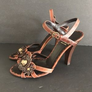 Moschino Cheapandchic studded scrappy sandals 36